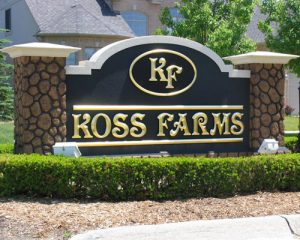 Koss Farms Monument Sign