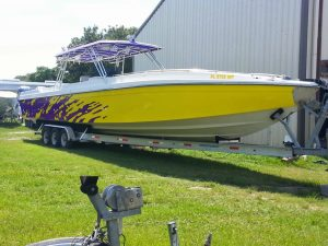 Custom Color Change Boat Wrap