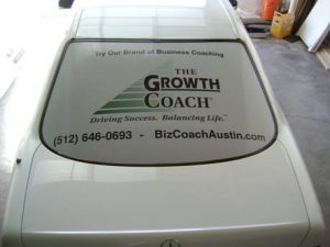 Perforated Window Film for Cars