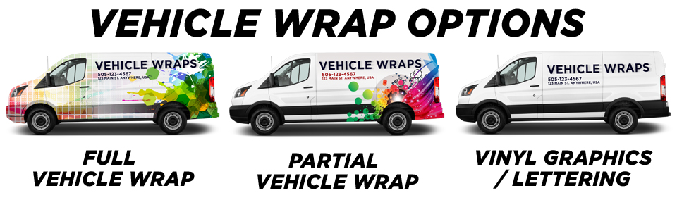Montclair Vehicle Wraps vehicle wrap options