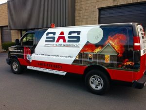 SAS Custom Van Wrap Design