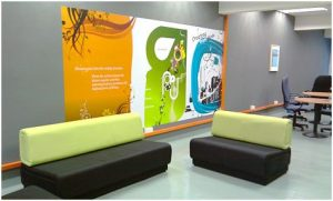 Custom Office Signs Lobby Decal wall mural 300x181