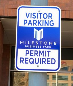 Informational Signs 5b7ed73c7e6bb custom parking outdoor metal traffic sign safety wayfinding 256x300